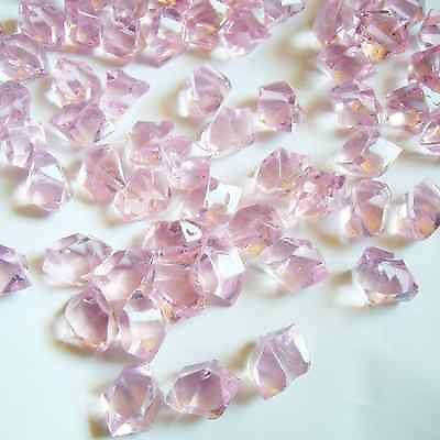 500pcs Acrylic Ice Rocks Pink Crystals Fish Tank Aquarium Vase