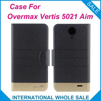 5 Colors Hot! Overmax Vertis 5021 Aim Case Fashion Business Magnetic clasp Flip Leather Exclusive Case For Overmax Vertis 5021 image