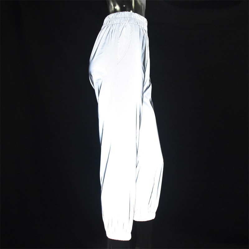 Flash Reflective Jogger Pants Autumn Winter Casual Solid Street Wear Trousers 55