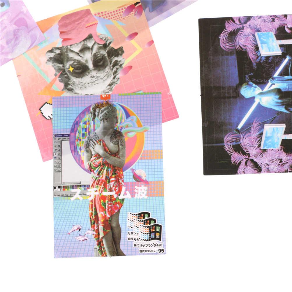 10 adet/grup DIY Dizüstü tekerlekli çanta Çıkartması PVC Çıkartmalar Vaporwave Tarzı Yaratıcı Newton Kaykay Sırt Çantası Masa Sticker