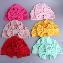Get more info on the Cute Cotton Blend Hair Bow Knot Kids Baby Infant Turban Hat Big Ear Knot Toddler Caps Headwraps Birthday Gift Photo Props