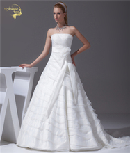 Jeanne Love 2017 New Arrival Wedding Dresses Robe De Mariage Organza Bridal Gowns A Line Vestido Novia PLUS SIZE JLOV75895