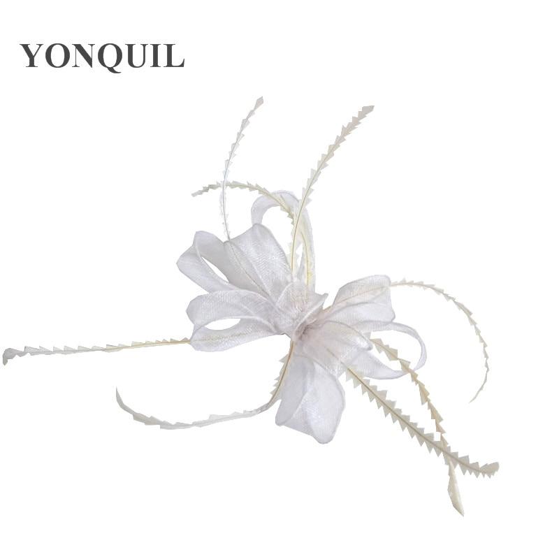 Элегантные головные уборы sinamay, Свадебные шляпы для невесты, высококачественные Коктейльные головные уборы, вечерние головные уборы, несколько цветов