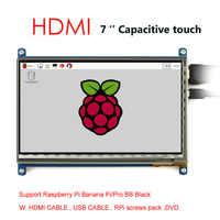 Pantalla táctil capacitiva de 7 pulgadas, pantalla LCD 800*480, interfaz HDMI personalizada, Raspbian Angstrom para Raspberry Pi Banana Pi