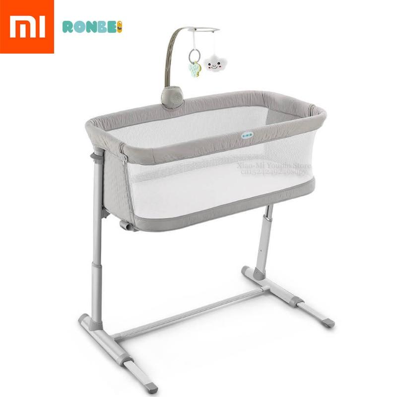 Xiaomi Mijia Ronbei lit bébé réglable empilable Design pour prendre soin des bébés costume pour les bébés 0-18 mois