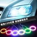 2 ШТ. 60-120 ММ COB Angel Eye LED Мотоцикл Свет Halo Кольца Водонепроницаемый Авто Фары Противотуманные Фары Автомобиля СВЕТОДИОДНОЕ Освещение Со Светильниками