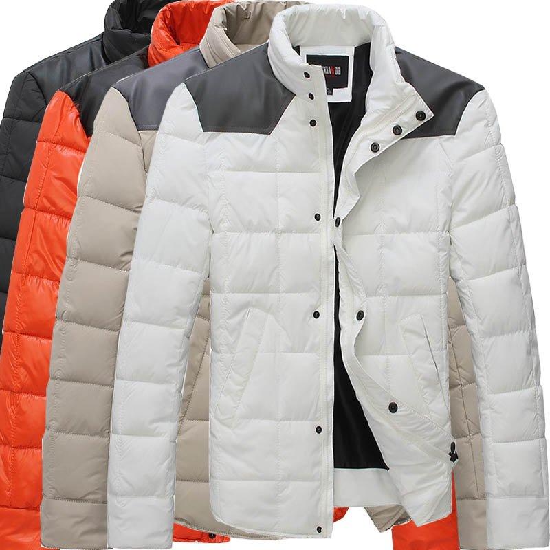 200a60334e7 Down jacket male cotton men winter autumn winter men orange splice D013-in  Parkas from Men s Clothing on Aliexpress.com