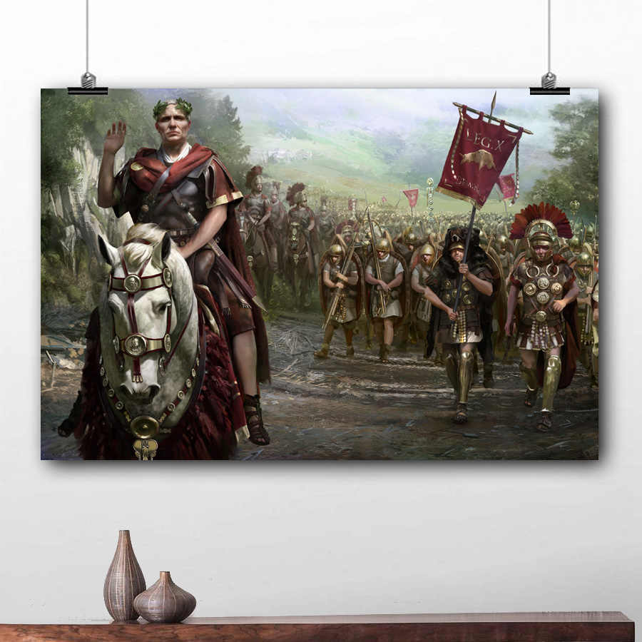 Video Game Poster Total War Rome II Wallpaper Prints Wall Picture Canvas Art For Living Room Decor