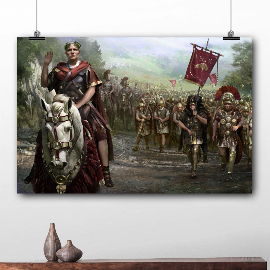 Us 848 15 Offvideo Game Poster Total War Rome Ii Wallpaper Prints Wall Picture Canvas Art For Living Room Decor In Painting Calligraphy From