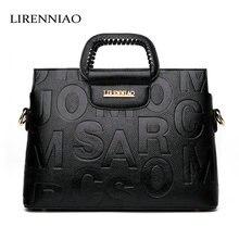 LIRENNIAO 2017 Leder Taschen Frauen Handtaschen Luxus Brand echtledertasche damen Frauen Messenger Bags Schulter