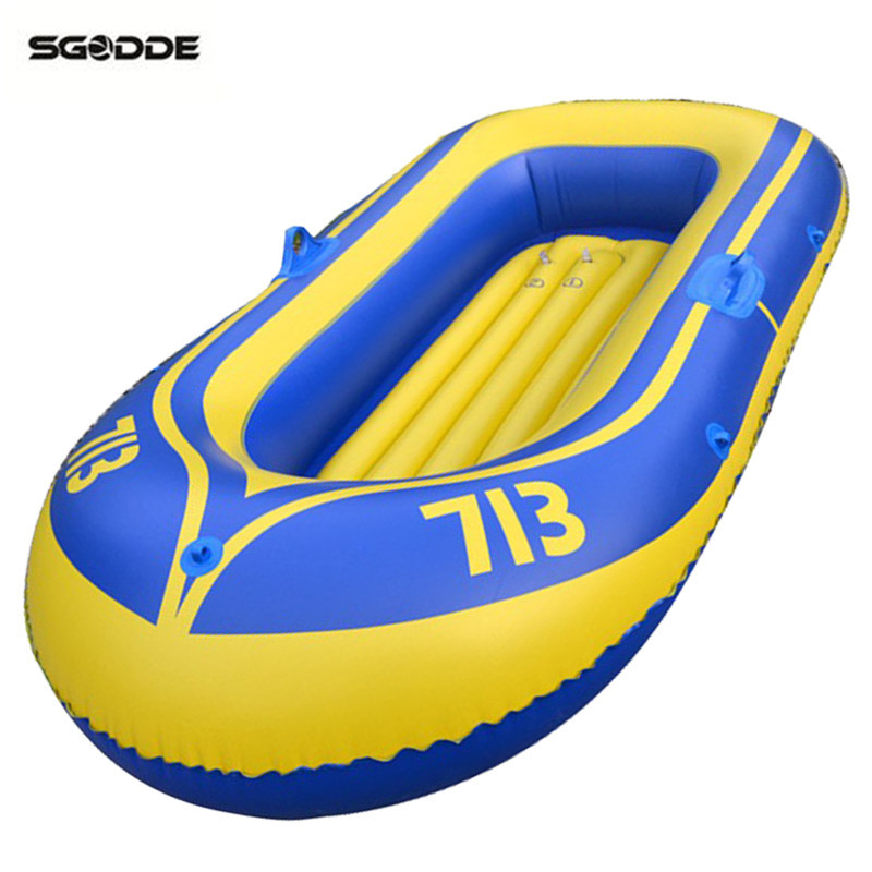 Inflatable PVC Rubber Boat for River Stream Lake Fishing Raft Boat with Paddles Pump Patching Kit and Rope Safty for Two People цены онлайн