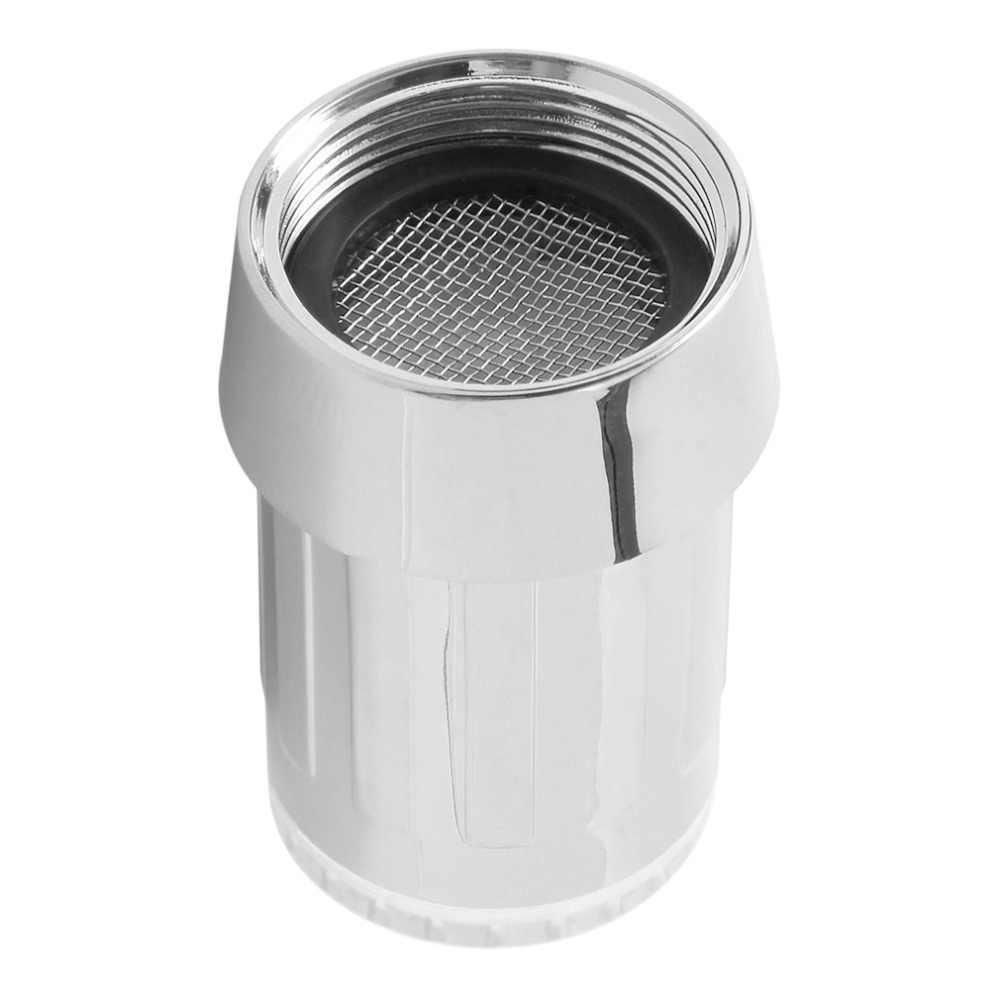 7 色ユニークな Led ライト水グロー蛇口タップステンレス鋼水タップ + 蛇口ダイバーバルブアダプタコネクタ