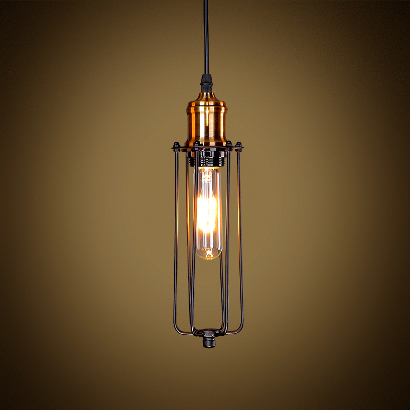 Single Head Vintage Retro Restaurant Pendant Lights American Country Style E27 Edison Bulb Industrial Loft Light WPL029 light bulb pendant light copper glass restaurant pendant light single pendant light vintage retro abajur american style 2016 new