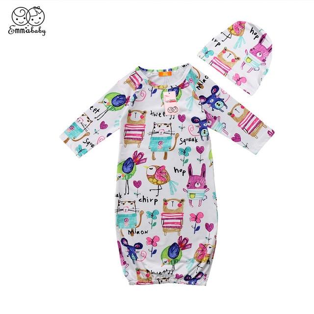 Граффити Печатные новый Спальные мешки + Шапки 2018 новые детские спальный мешок конверт для новорожденных мешок сна Симпатичные 2 шт. Пеленальные принадлежности набор