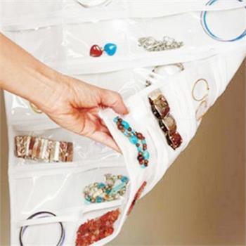 Double Sided 72 Pocket Hanging Jewelry Organizer Bracelet Earring