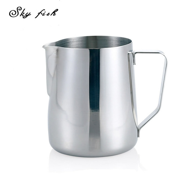 Sky Fish 350ml Stainless Steel Coffee Frothing Jug Milk Latte Espresso Pitcher Steam
