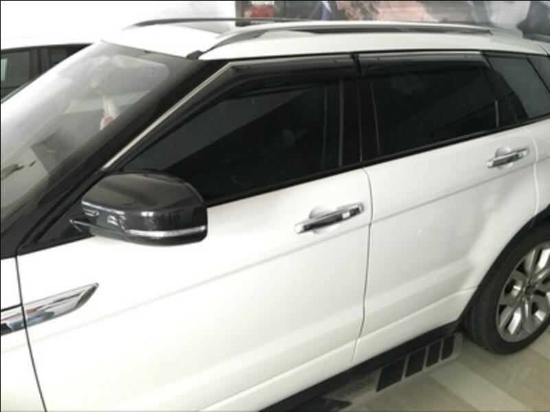 4pcs Window Sun Visor Deflectors Rain Guard Cover Trim For Land Rover Range  Rover Evoque 2014 2018-in Awnings   Shelters from Automobiles   Motorcycles  on ... d41bc00fb6a