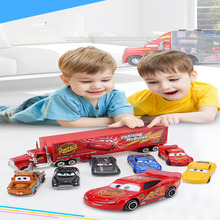 Disney Pixar car McQueen Jackson Storm  suit with six small container set alloy front child combination toy for children