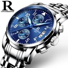Hot!! Top Luxury Brand Men Watches Chronograph Men Sports Watches Waterproof Full Solid Steel Men Quartz Watch Relogio Masculino