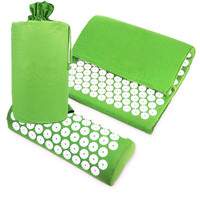 Acupuncture Spike Yoga Mat With Pillow Acupressure Mat Massage Cushion Relieve Stress Pain Body Relax Health