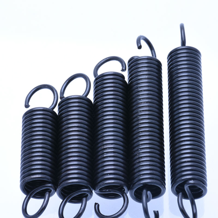 10Pcs Steel Tension Spring With Hooks Small Extension Spring Outer Diameter 4mm Wire Diameter 0.5mm Length 15-60mm image