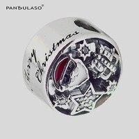 Pandulaso Weihnachten Freude Charme Santa Anhänger 925 sterling silber schmuck Fit Original armband & Halskette DIY frau Schmuck