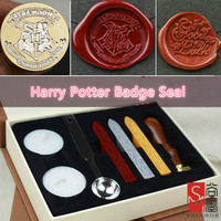 1 Set Retro Harry Potter College Badge Sealing Wax Stamp Gift Box For Envelopment Invitation Letter