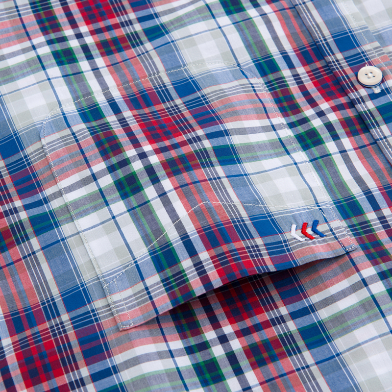 Image 3 - Men's Standard Fit Short Sleeve Checkered Plaid Shirt Single Patch Pocket Casual  Button down Comfortable Cotton Dress Shirts-in Dress Shirts from Men's Clothing