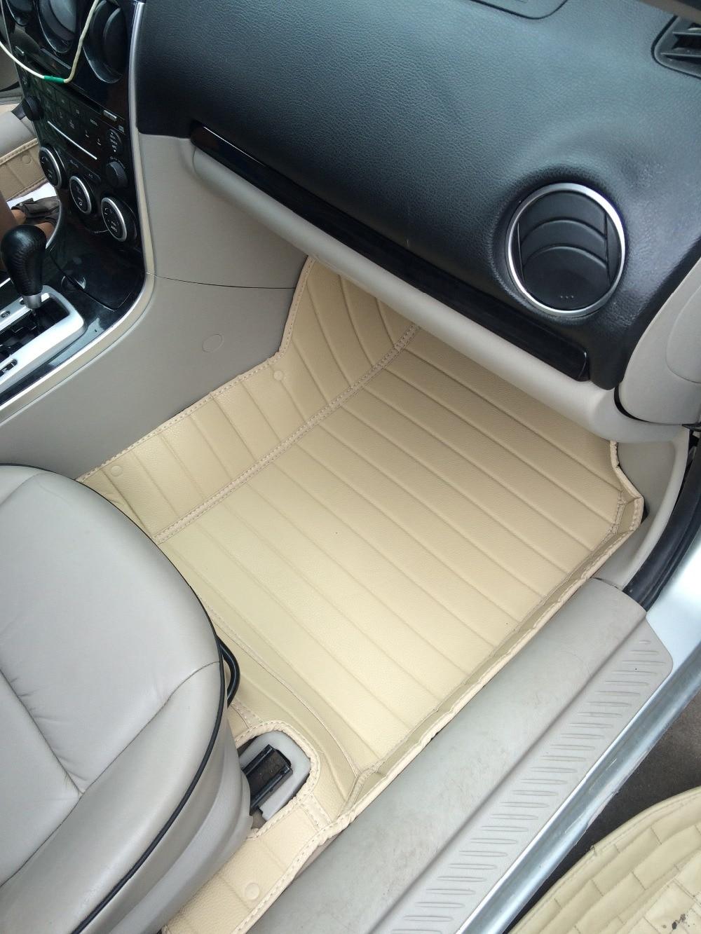 Custom waterproof special car floor mats for Mazda 6 5seats durable no odor carpets for 6 5seats special car waterproof latex rubber antiskid automobile floor mats for lc200 cruiser green no odor waterproof latex carpets