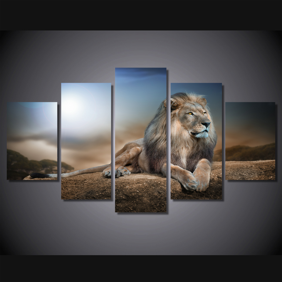 online buy wholesale pictures lion from china pictures Wall Art for Living Room Canvas Art Brown Wall Color Living Room