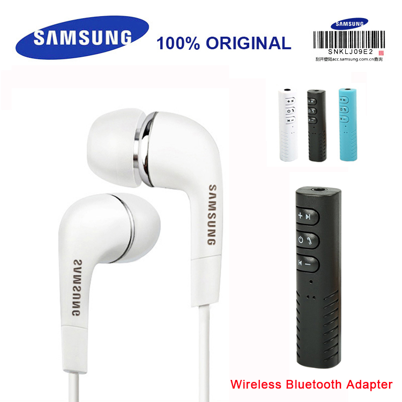 SAMSUNG Earphone <font><b>EHS64</b></font> Headsets Wired with Wireless Bluetooth Adapter Built-in Microphone In-Ear Headsets 3.5mm for xiaomi S9 image