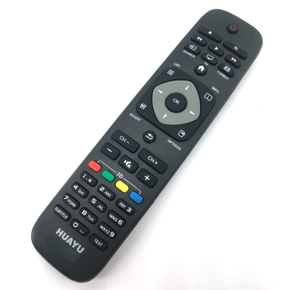 Universal Replacement TV Remote Control for Philips 242254990467/2422 549 90467 Black