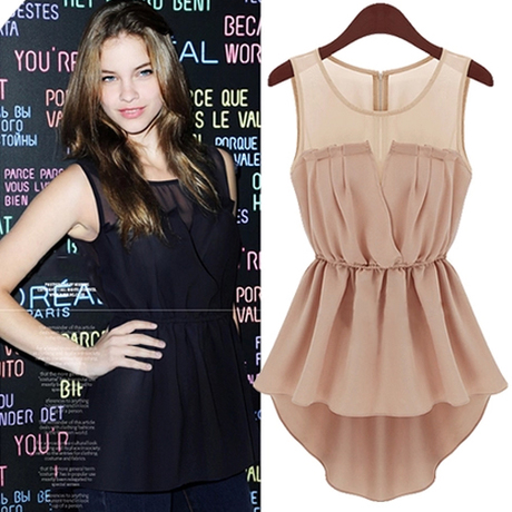 Aliexpress.com : Buy Women's Summer Casual Slim Sleeveless Chiffon ...