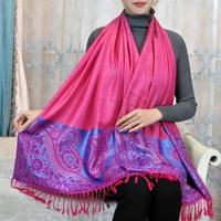 2018 Promotie Vrouwen Volwassen Mode Acryl Winter Hijab Nieuwe Ontwerp Streep Jacquard Katoen Kwastje Stijl Shawl Groothandel Prijs