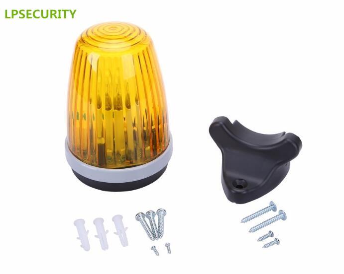 LPSECURITY Security Flashing Lamp Alarm Light Blinker Strobe For Swing Sliding Garage Rolling Shutter Gate Door Motor Opener