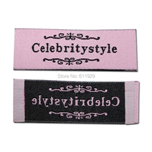 free shipping customized clothing woven labels/garment shoes embroidered labels/tags 1000 pcs a lot