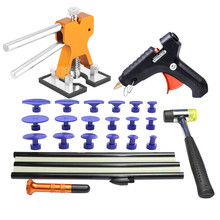 paintless dent repair tools dent removal tools dent puller pdr glue sticks pdr tabs tool kit for car hail damage repair hammer triclicks car body panel t bar paintless hail repair pdr dent lifter removal tool 5 tabs suckers tool kit hand puller pdr tools