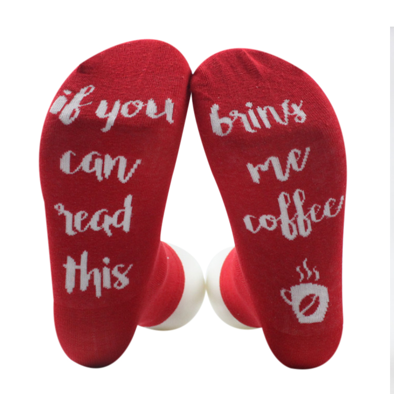 5 Colors Women Men Wine Socks Letter Printed IF YOU CAN READ THIS Compression Sock Styli ...