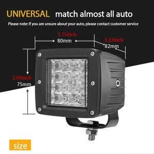 Image 5 - שיתוף אור 3 אינץ 12D Led Worklight 48W מהבהב Strobe לבן ענבר מנורת עבודה לרכב טרקטור משאית לאדה נהיגה ערפל אור 12V 24V
