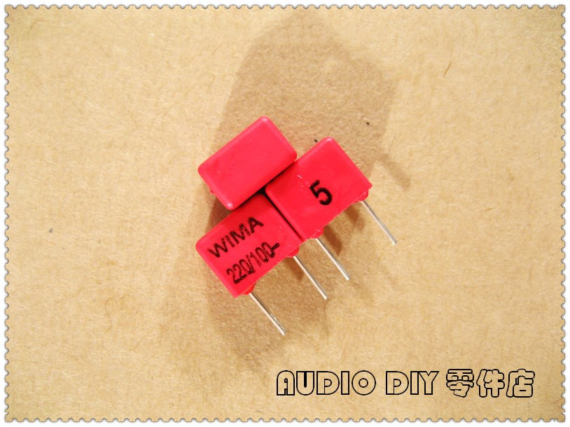 10PCS/50PCS WIMA FKP2 220pF 100V 100v220pf 5% Foil Film Capacitor 0.22nF 221