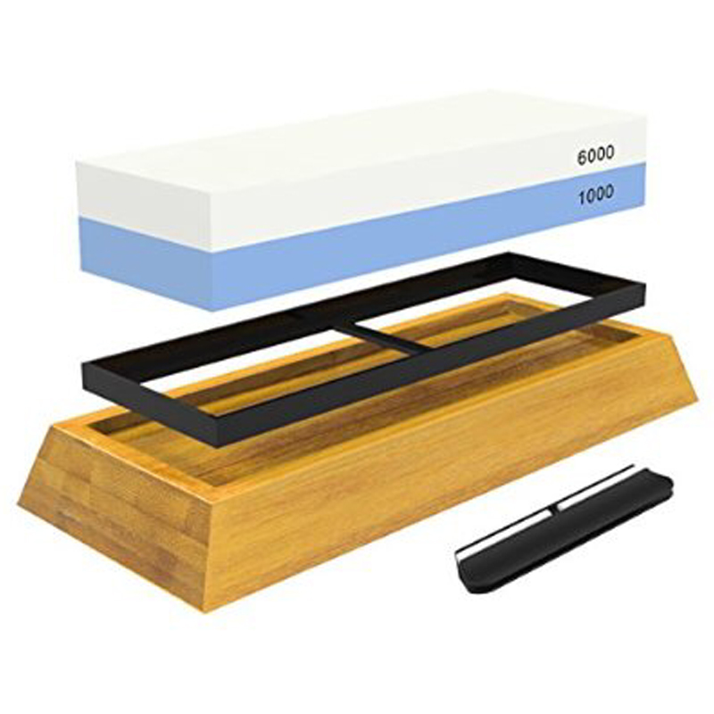 Sunnecko Chef Knives Sharpener 1000 6000 Professional <font><b>Whetstone</b></font> 2-IN-1 Multi-functional Tools Kitchen Knife Sharpening Stone image