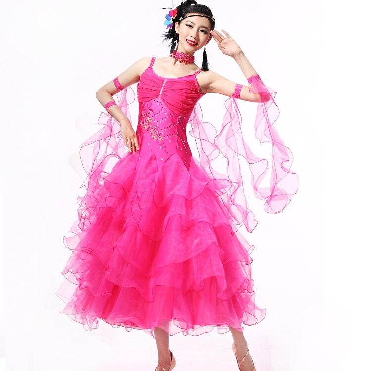 Robes de danse moderne Costume robe de danse robe de compétition valse