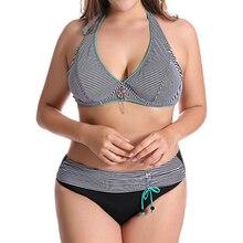 Plus Size 6XL Bikini Set 2018 Push Up Swimwear Women Floral Print Large Brazilian Swimsuit Sexy Bandage Ruffle bathing suit