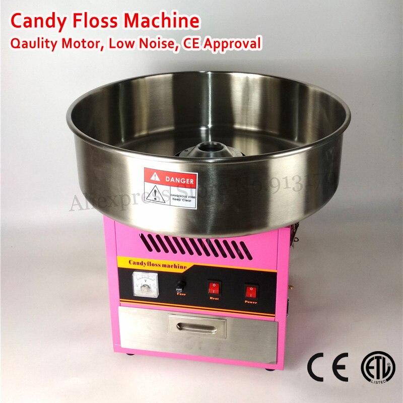 Коммерческих хлопка машина candy Электрический конфеты Вышивка Крестом Нить Maker 52 см Нержавеющаясталь Чаша Сахар Scoop 220 В ~ 240 В ce
