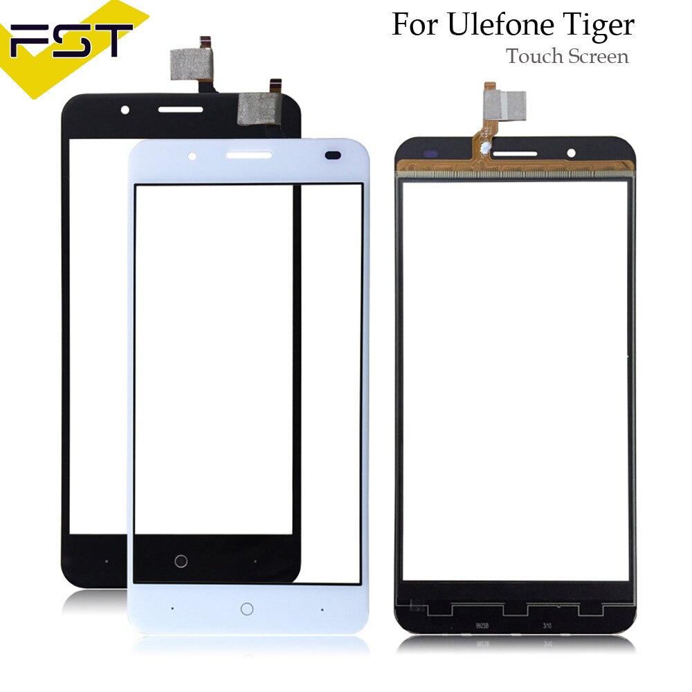 5,5 ''Schwarz/Weiß Getestet Touchscreen Digitizer Panel Für Ulefone Tiger Touch Panel Front Glas Objektiv Sensor Ohne LCD