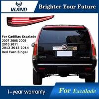 Vland светодиодный задние фонари устанавливается Cadillac Escalade ESV 2007 14 светодиодный фонарь в сборе задние лампы с Красный Включите свет
