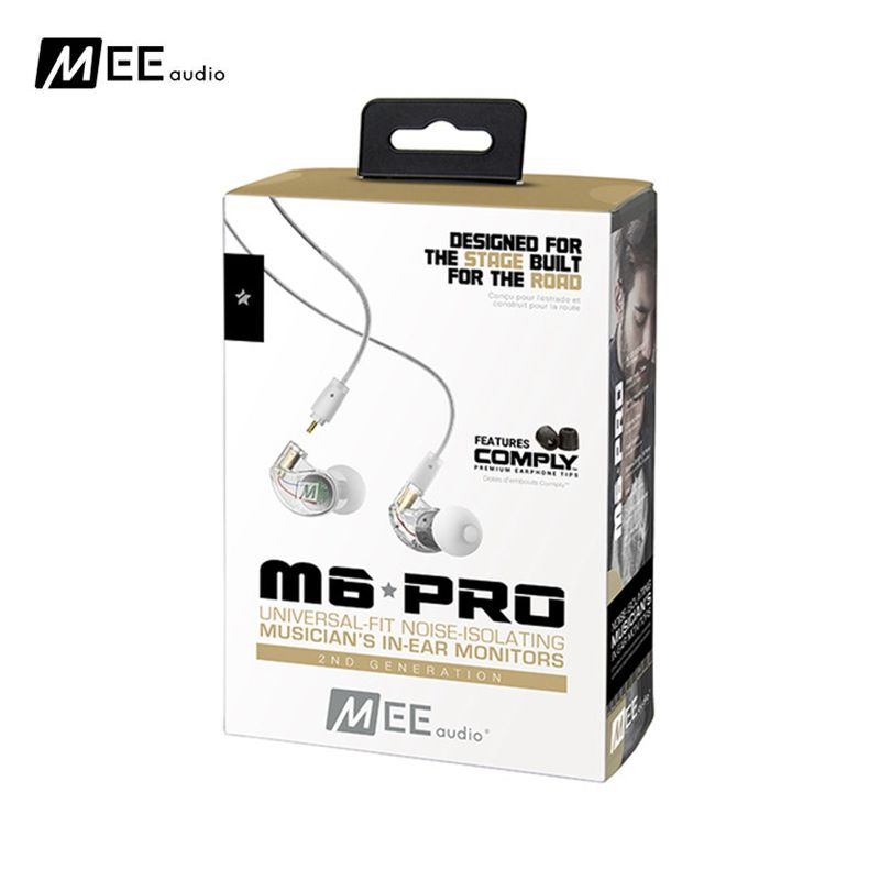 24 hours shipping!MEE M6 PRO 2ND GENERATION NOISE ISOLATING MUSICIAN S IN EAR MONITORS WITH DETACHABLE CABLES sport earphones