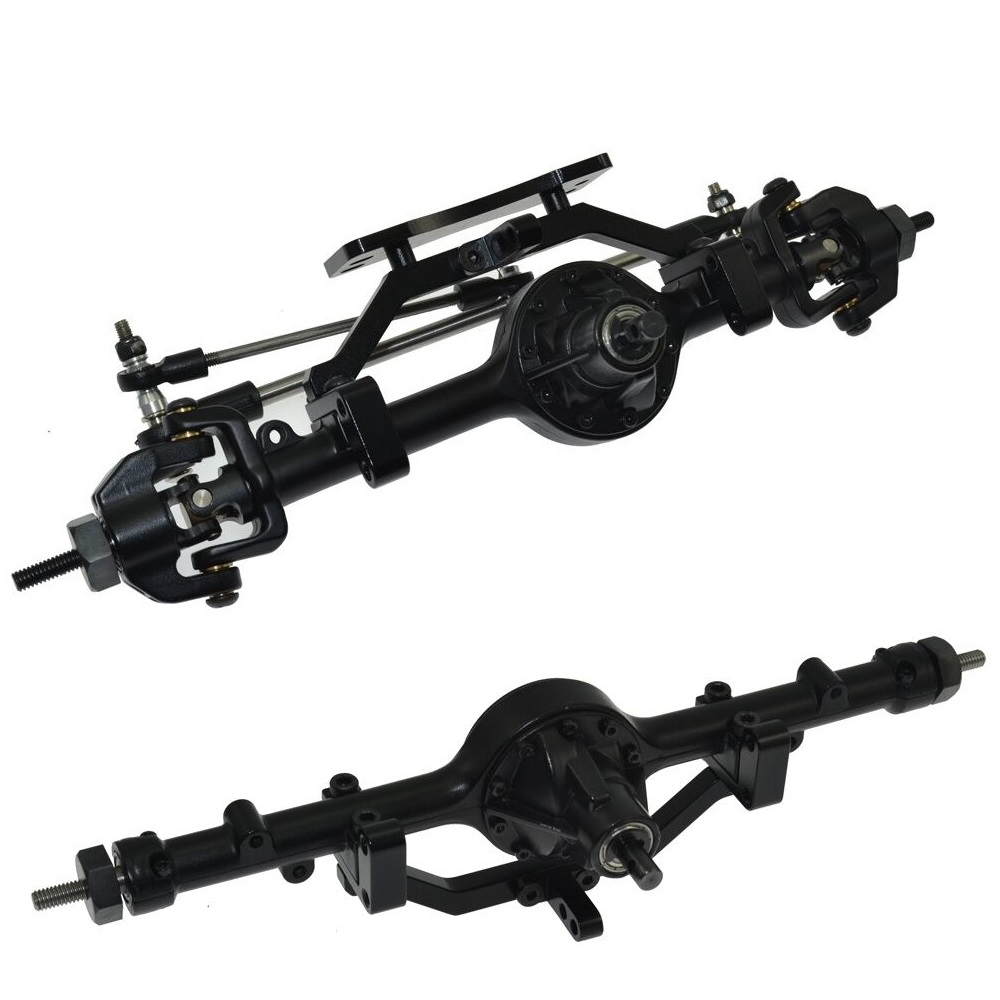 RC Car 1/10 Metal Complete Alloy Front and Rear Axles for 1/10 Rc Crawler D90 Scx10 Rc4wd AXIAL Yota 2 1 10 rc crawler car aluminum alloy metal