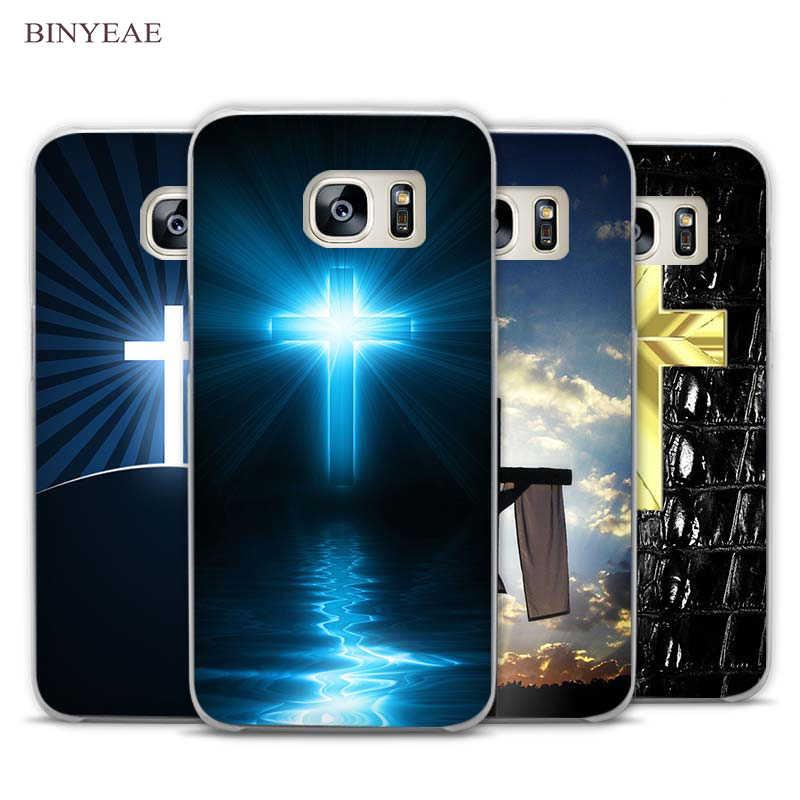 61886e0658f Vintage cruz Jesús cita Dios desgin claro teléfono funda para Samsung  Galaxy Note 2 3 4
