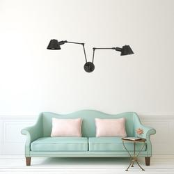 Nowoczesne proste amerykańska przemysłowa wiatr 2 głowice 3 głowice krotnie osobowości czarny połysk lampki nocne ściany światła LED sypialnia/restauracja